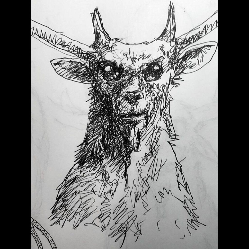 Deer Goat Alien Creature Joey Madia